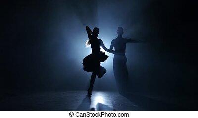 danse, enfumé, studio, exécuté, émotif, gracieux, champions, latina