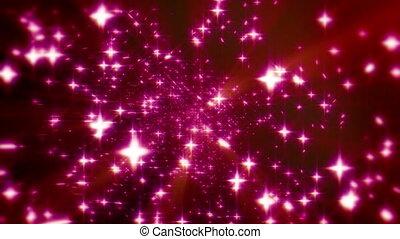 danse, espace, particule, 4k, étoiles