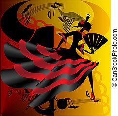 danse, espagnol