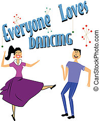 danse, everyone, amours