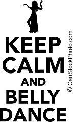 danse, garder, ventre, calme