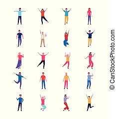 danse, gens, ensemble, amusant
