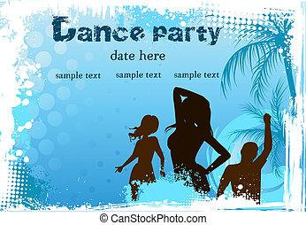 danse, grunge, gens arrière-plan
