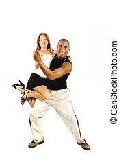 danse, instructeur, porter, latino, girl