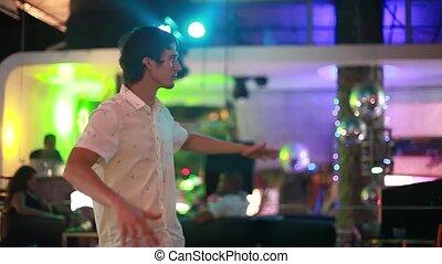 danse, jeune, nightclub., beau, 1920x1080, homme