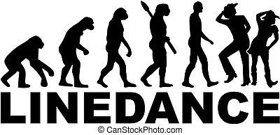 danse ligne, évolution
