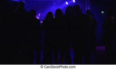 danse, métrage, gens, -, disco, stockage