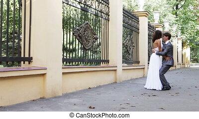 danse, mariée, palefrenier