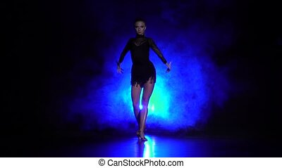 danse, mouvement, girl, lent, studio.