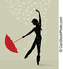 danse, parapluie