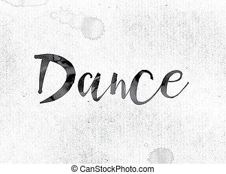 danse, peint, concept, encre