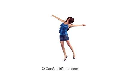 danse, ralenti, fortuitement, femme
