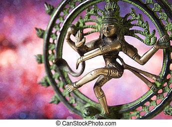 danse, shiva, -, statue, seigneur