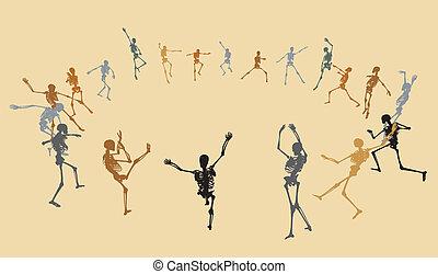 danse, squelettes