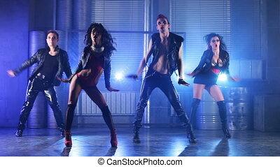 danse, team.