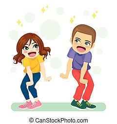 dansend koppel, jonge, vrolijke