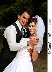 dansend koppel, trouwfeest