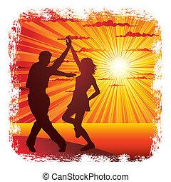 dansend koppel