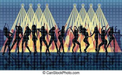 danser disco, gens arrière-plan