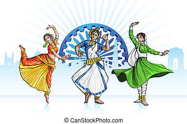 danser, indiër, klassiek