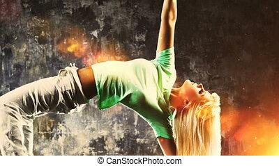 dansers, moderne, klem