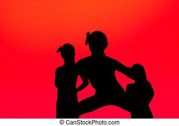 dansers, rood