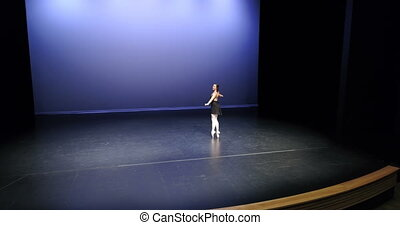 danseur ballet, 4k, étape, danse