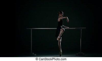danseur, ballet, mouvement, abricot, tutu., lent, porter