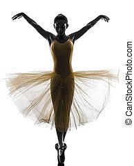 danseur, ballet, silhouette, danse, femme, ballerine