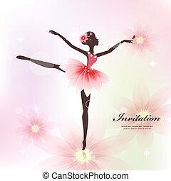 danseur, conception, ton, joli