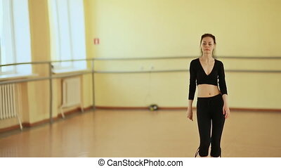 danseur, devant, girl, miroir, danse