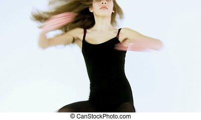 danseur, femme, écoute, prof