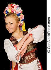 danseur, hongrois, folklorique