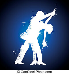danseur, salsa/couple