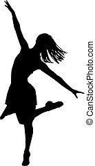 danseur, silhouette