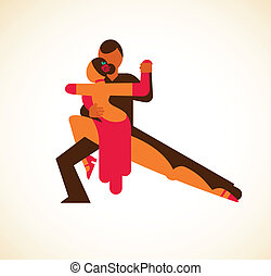 danseur, vecteur, -, tango, illustration