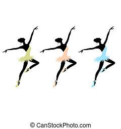 danseurs ballet, conception, ton