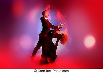 danseurs, vigoureux