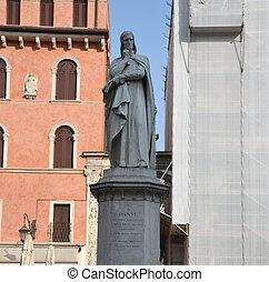 dante, estatua
