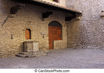 The house of the Alighieri family, and thus birthplace of Dante. Located in Florence, Italy.