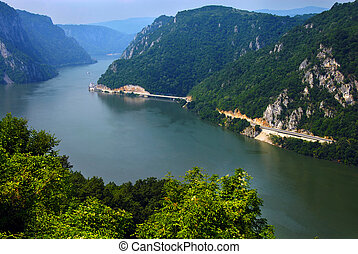 Danube canyon - Danube valley Veliki Kazan on the...