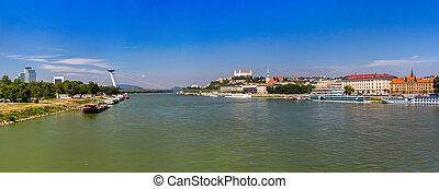 Danube river in Bratislava - Slovakia