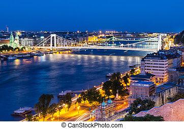 Danube River in night, Budapest