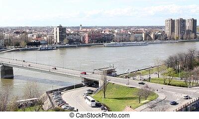 Danube river Novi Sad Serbia