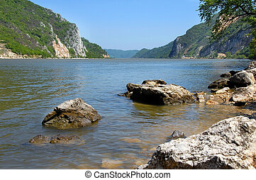 Danube riverbank landscape