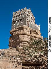 Dar Al-Hajar Rock palace in Wadi Dahr, Yemen