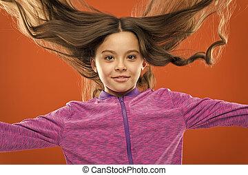 dar, cabelo, hair., menina, pequeno, concept., longo, muito,...