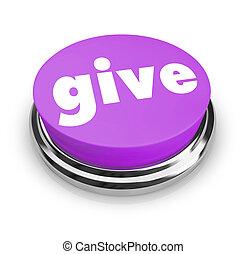 dar, -, caridade, botão