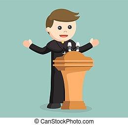 dar, color, sacerdote, discurso