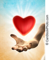 dar, coração